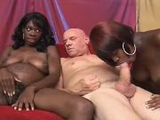 Preggy black girls share white cock